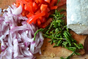 légumes et salicorne