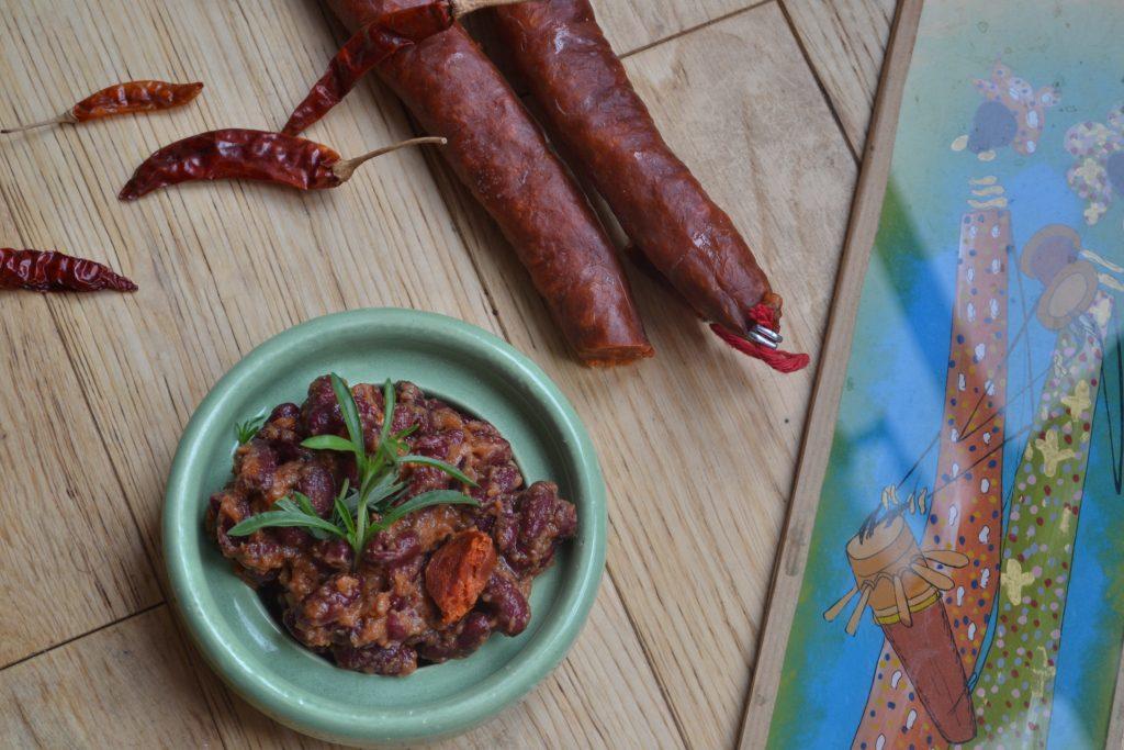 haricot rouge et chorizo